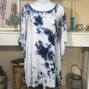 ANNABELLE Bohemian Tie Dye Dress with Pockets